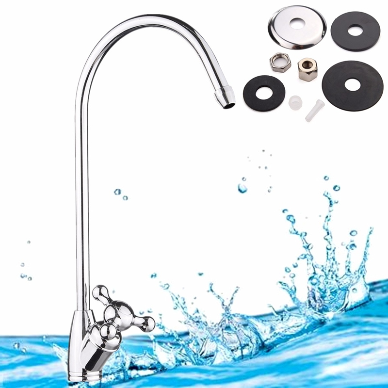 Xueqin 1pc 1 4 Reverse Kitchen Faucet Gooseneck Type Kitchen Water Tap Chrome Plated Finished Water