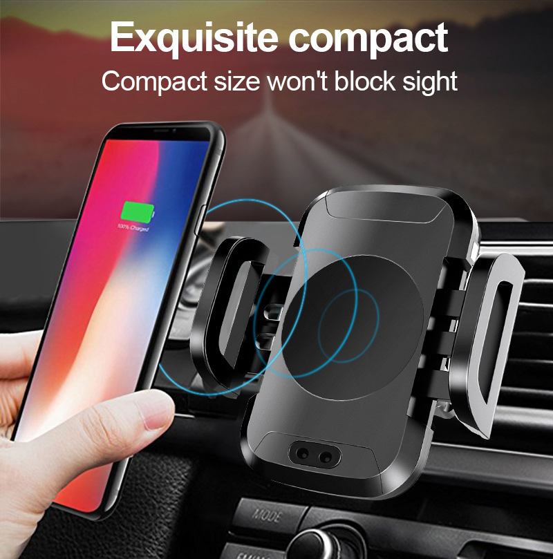 Qi Car Wireless Charger For iPhone X 8 8 Plus Samsung S8 S9