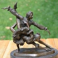 Латунь статуя скульптура украшения музыкальной индустрии Танцы искусства День рождения свадебный подарок мягкие украшения