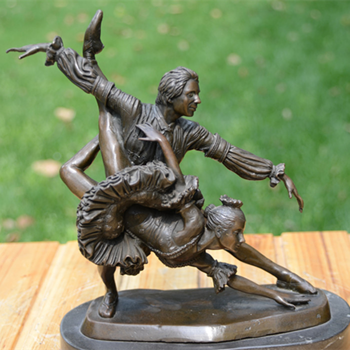 The BRASS statue sculpture ornaments music industry dance art Birthday wedding gift soft decoration