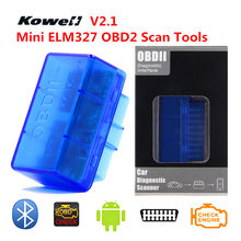 KOWELL V2.1 Mini ELM327 BT OBD2 OBDII Smart Intelligent Diagnostic Car Auto Interface Scanner Scan Tool CAN-BUS Supports Super(China)