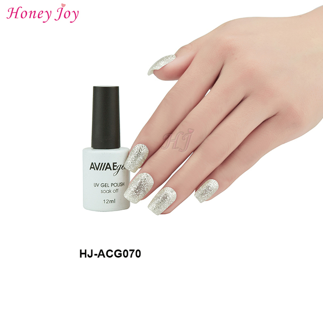 AVIIAE Bright Silver Tinny Glitter Color Gel Nail Polish Long-Lasting  Soak-off LED UV Lamp Cure Cosmetic Make Up Gel Polish 12ML f519d7a01