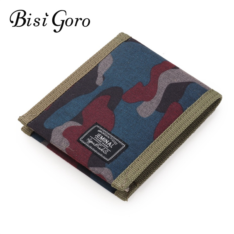 Bisi Goro 2019 Unisex Wallet Short Wallets Normcore Women Purse Coin Purse Cute Cartoon Printing Short Print Canvas Card Holder