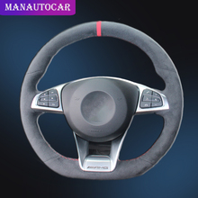 Car Braid On The Steering Wheel Cover for Mercedes Benz C200 C250 C300 B250 B260 A200 A250 Sport CLA220 Auto Styling