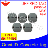 UHF RFID Concrete tag omni ID 915mhz 868mhz Impinj Monza4QT EPC 5pcs free shipping durable ABS smart card passive RFID tags