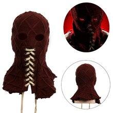 Маска для косплея по мотивам фильма BrightBurn, полноголовая маска с красным капюшоном, страшная, трикотажная, дышащая маска для лица, реквизит на Хэллоуин