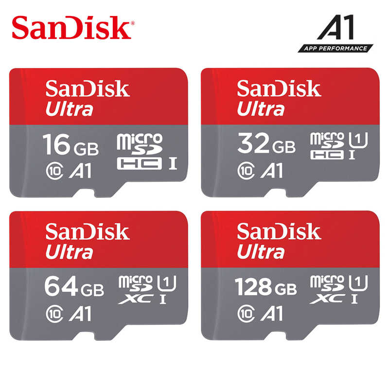 SanDisk micro sd 200 go 128 go 64 go jusqu'à 98 mo/s TF usb carte mémoire flash 32 go 16 go microsd pour Smartphone tablette