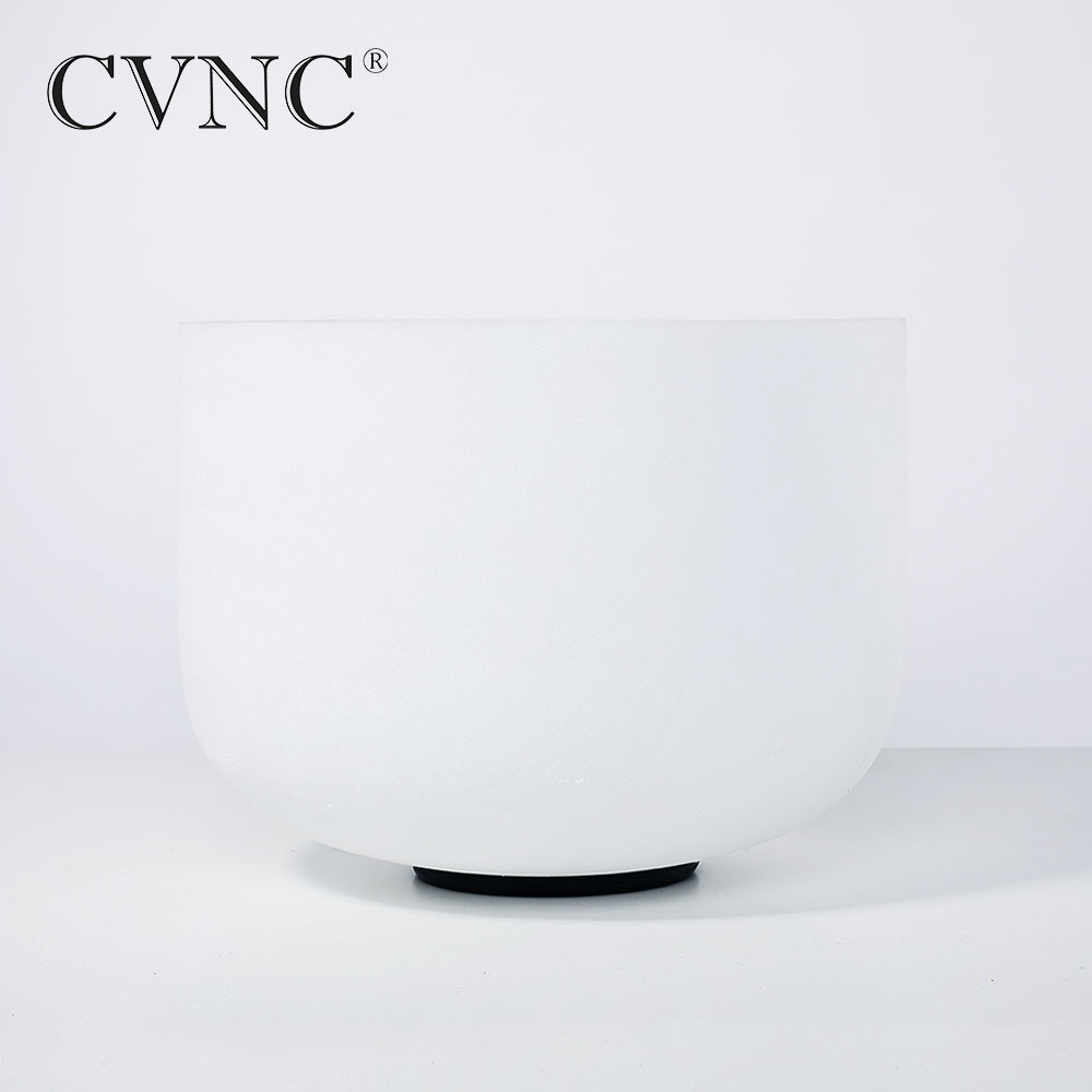 CVNC  Chakra 12  Note C / D / E / F / G / A / B   Frosted Quartz Crystal Singing Bowl CVNC  Chakra 12  Note C / D / E / F / G / A / B   Frosted Quartz Crystal Singing Bowl