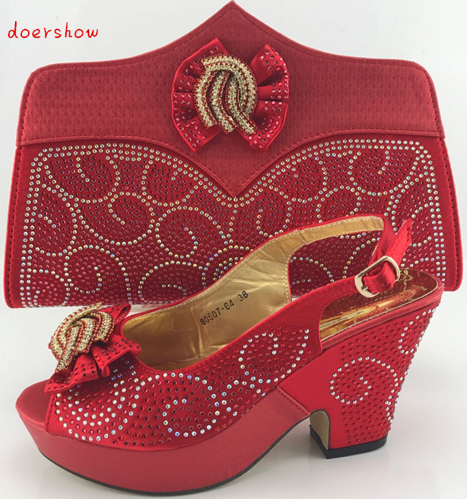 Shoes and Bag To Match Italian Nigerian Party Shoes and Bag Set Summer African Style Shoes and Bag Set doershow PME1-8 top selling italian shoes and bag to match good quality fashionable shoes and bag set for lady pme1 12