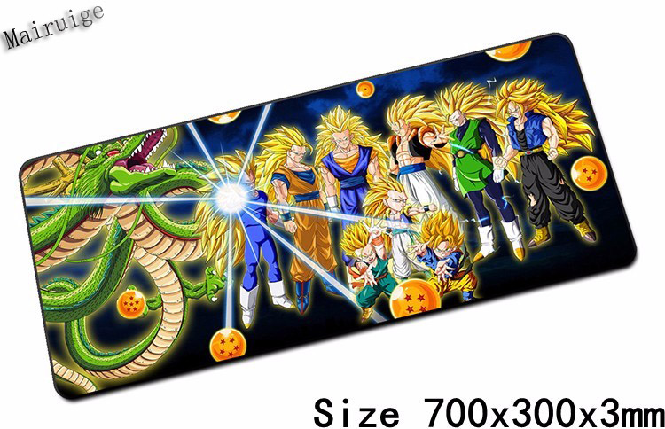 Mairuige Free Shipping Locking Edge Rubber Mousepads for Dragon Ball Skins Mice Mat DIY Design Pattern Computer Gaming Mouse Pad