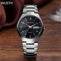 WLISTH Men Quartz Wristwatches Top Luxury brand Auto Date Day Men sports Watches Full Steel Clock Men Relogio Masculino 2016