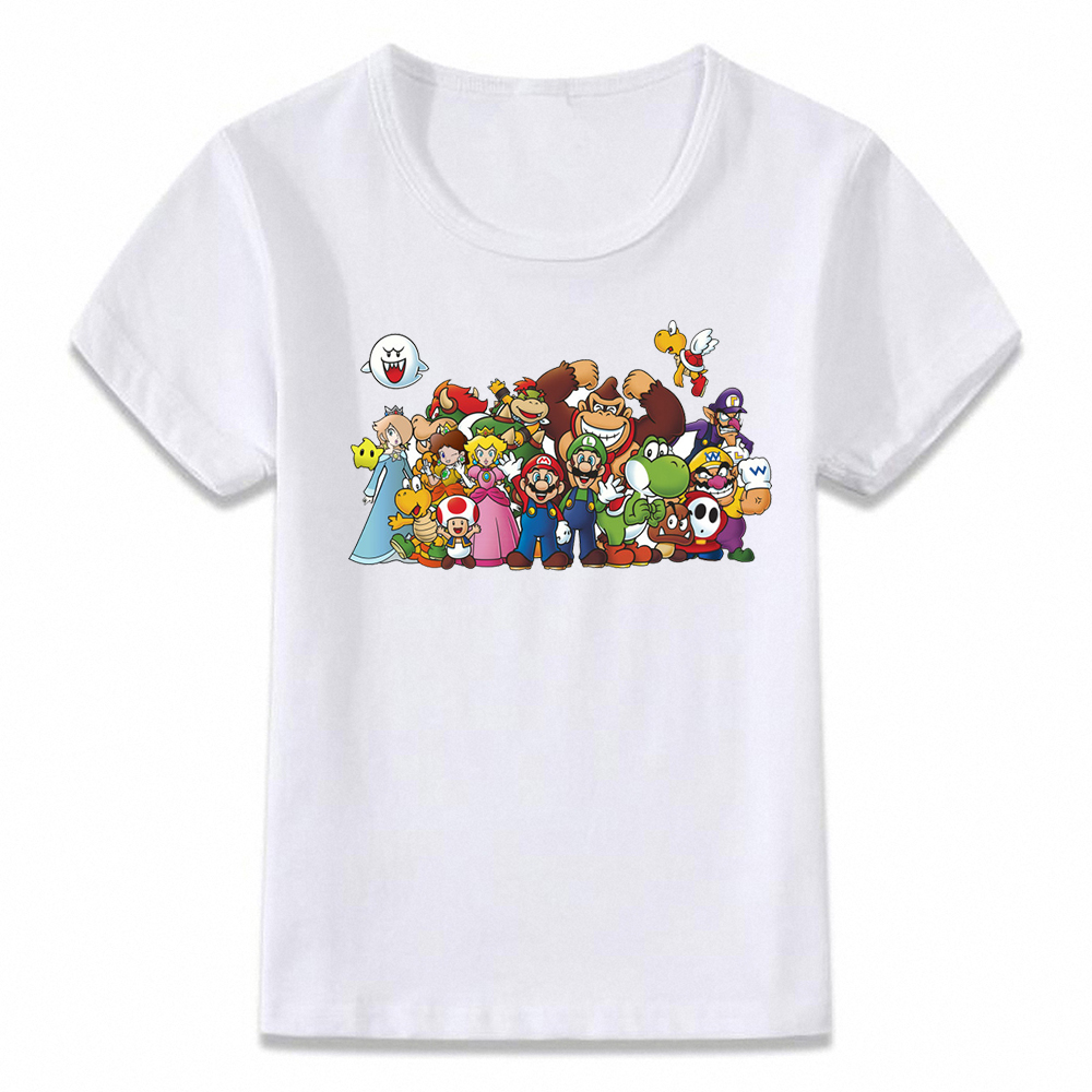 Kids Clothes T Shirt Bowser Yoshi Mario Link Children T-shirt For Boys And Girls Toddler Shirts Oal086