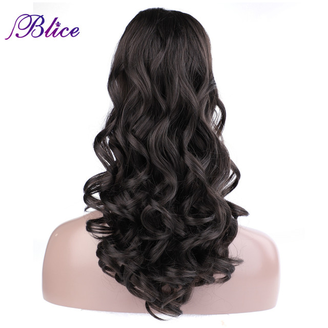 """Blice Synthetic Curly Ponytail 20"""" 22"""" Ponytail Hair Extensions Long Hairpiece With Two Plastic Combs Drawstring Style"""