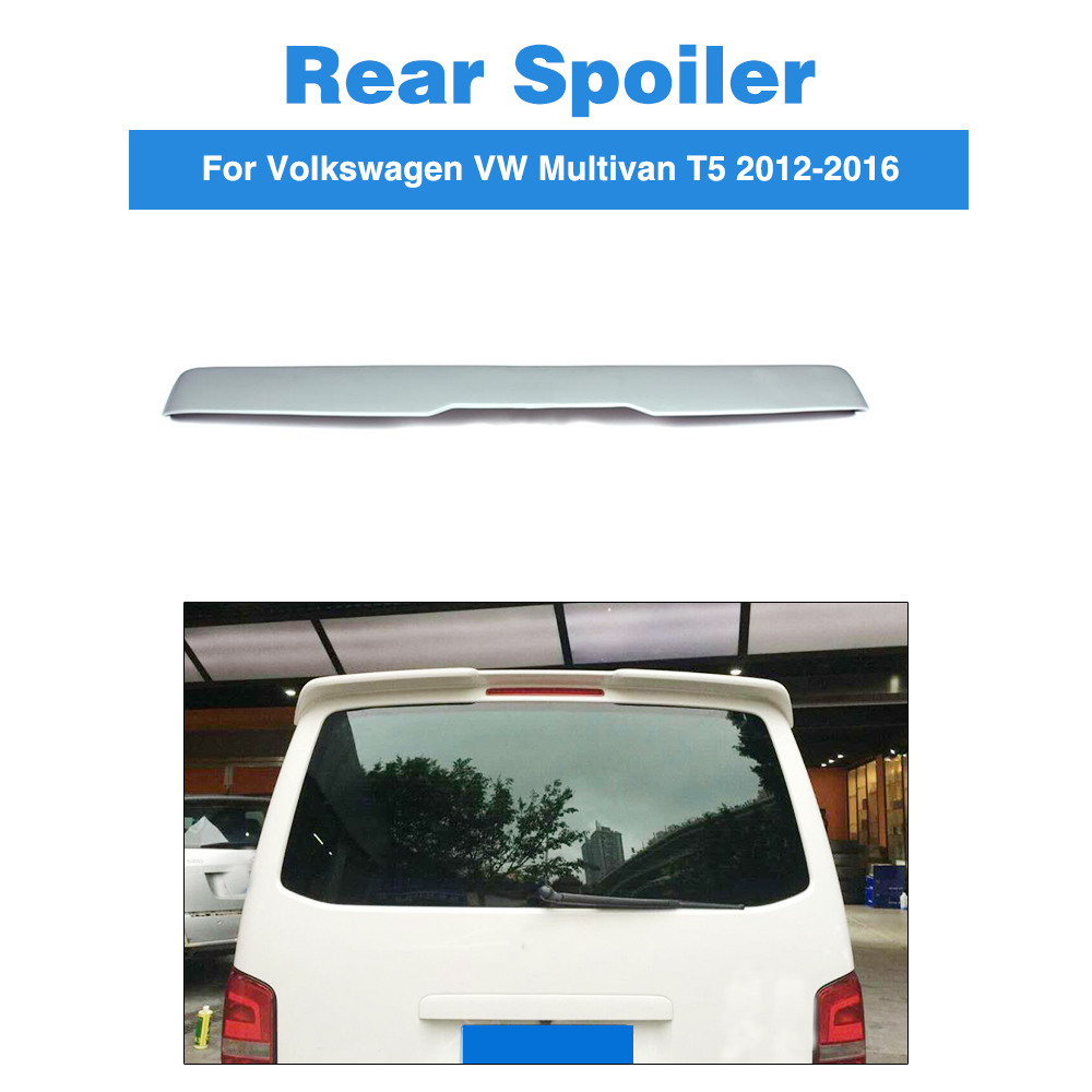 Rear Roof Spoiler Boot Window Wing For Volkswagen VW Multivan T5 2012-2016 FRP Unpainted Grey Car Styling