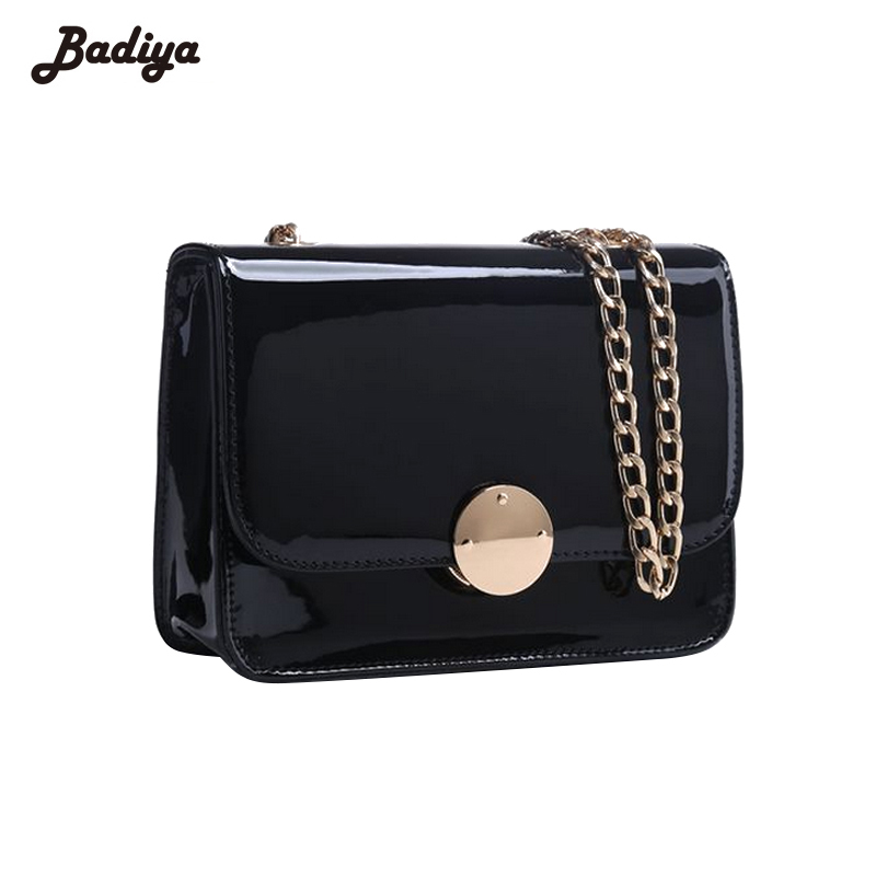 Handbags for Women Hasp Chains Shoulder Bags Ladies Zipper  Patent Leather Messenger Bags Lock Small Flap Crossbody Bags Bolsa new chains flap women shoulder bags small handbags vintage ring crossbody bag for woman suede leather ladies casual clutch purse