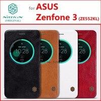 Genuine PU Leather Case For Asus Zenfone 3 ZE552KL Original NILLKIN Qin Series Classic Flip Cover
