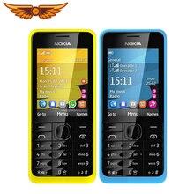 """Nokia 301 разблокированный WCDMA 2,"""" две sim-карты 3.2MP QWERTY клавиатура Восстановленный мобильный телефон"""