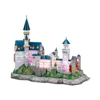 Germany New Swan Castle 3D Building Paper Puzzle Stereo Model Boy Girls DIY Creative Blocks Toys with LED Lighting