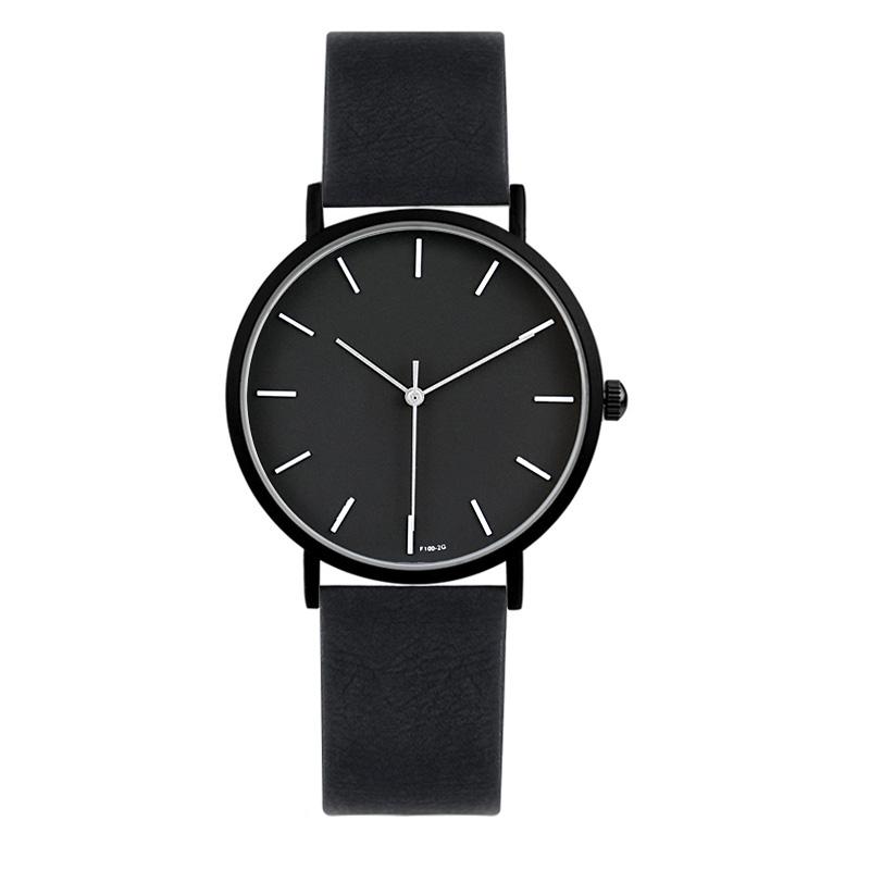 Prix pour 2017 enmex style cool lady montre-bracelet brève vogue simple élégant noir et blanc visage mat texture horloge à quartz montre de mode