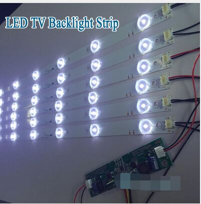 2pcs X 50 Inch Aluminum Plate Led Strips W/ Optical Lens Fliter Tv Panel Backlight Lamps Length 485mm 7-leds Free Shipping Special Summer Sale Industrial Computer & Accessories