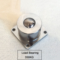 1PCS Heavy Duty Square Base Universal Ball 4 Hole Flange Bearing Steel Cattle Eye Wheel Load
