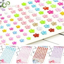 Crystal Flower Shape Diamond Stickers Tape Sheets DIY Hand Craft Materials Scrapbook Album Photo frame Decoration GYH