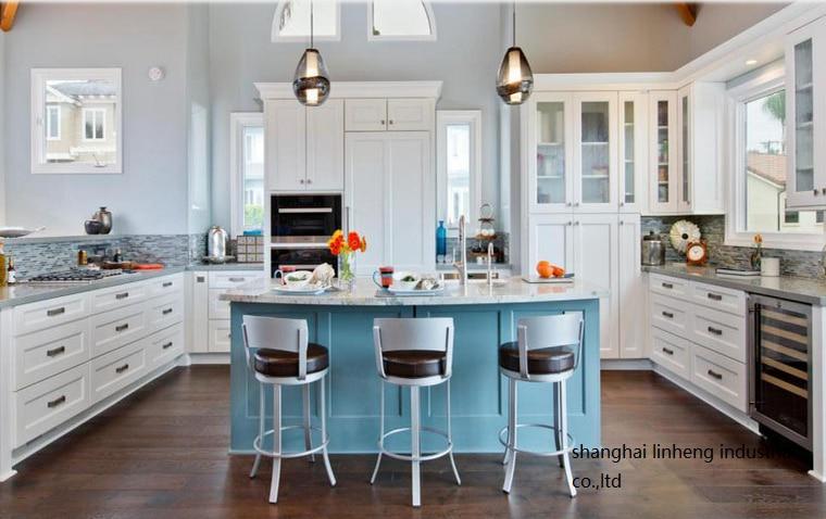 solid wood kitchen cabinet(LH-SW093) classic oak wood kitchen cabinet lh sw027