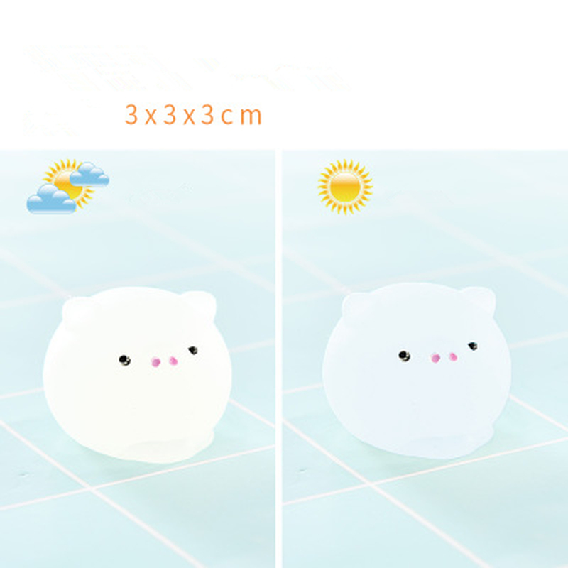 2Pcs/Lot Mochi Squishy Toys Mini Squishy Animal Stress Toys Soft Stress Relief for Boys Girls Children Adults Pig Gifts