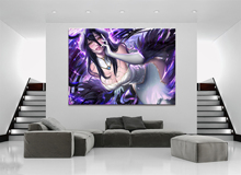 Home Decor Modular Canvas Picture 1 Piece Sexy Overload Albedo Game Painting Poster Wall For Wholesale