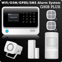 G90B 2.4G WiFi GPRS GSM SMS de Wireless Home Seguridad Sistema IOS Android APP Control Remoto de Alarma Del Detector Del Sensor