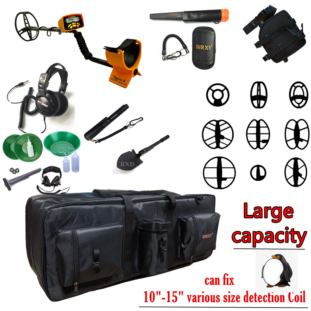 Купить с кэшбэком Outdoor Advanture Big Capacity Metal Detectors Bag for Carrying Shovels Underground Metal Dtector Tool Organizer Bag