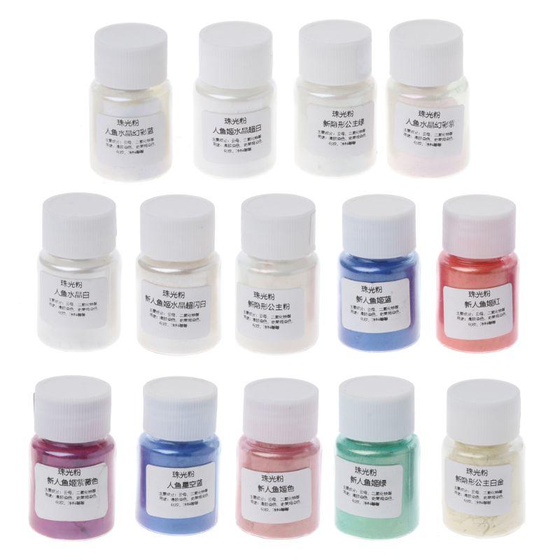 Resin Dye Powder Mica Pearl Pigments Colorants Crystal Mud Resin Jewelry Making