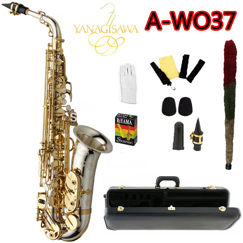 цена  Brand NEW YANAGISAWA A-WO37 Alto Saxophone Nickel Plated Gold Key Professional Sax Mouthpiece With Case and Accessories  онлайн в 2017 году