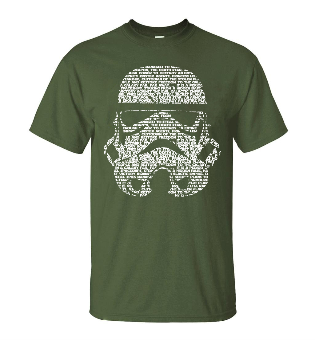 Star Wars Masks Words Hip Hop Tops Tee 1