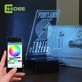 Presentes Inovadores CNHIDEE 3D Luz Da Noite Lâmpada de Música Bluetooth USB para Blazers NBA Lampara como Iluminação LED Desk Para el Hogar