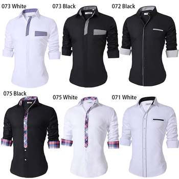 2018 New Summer Thin Men's Casual Shirt Regular Cotton Casual Shirt Men Long Sleeve Big Size Breathable Office Dress Shirts Men 1