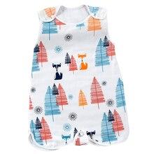 Одежда для малышей Летняя цельная Пижама для сна детский спальный мешок, хлопковый мягкий жилет без рукавов для малышей спальный мешок