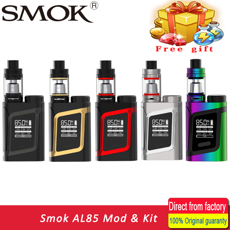Cigarrillo electrónico smok Alien AL85 kit con smok TFV8 tanque del bebé 3 ml 85 W vape AL85 mod vs eleaf istick pico kit Alien mod