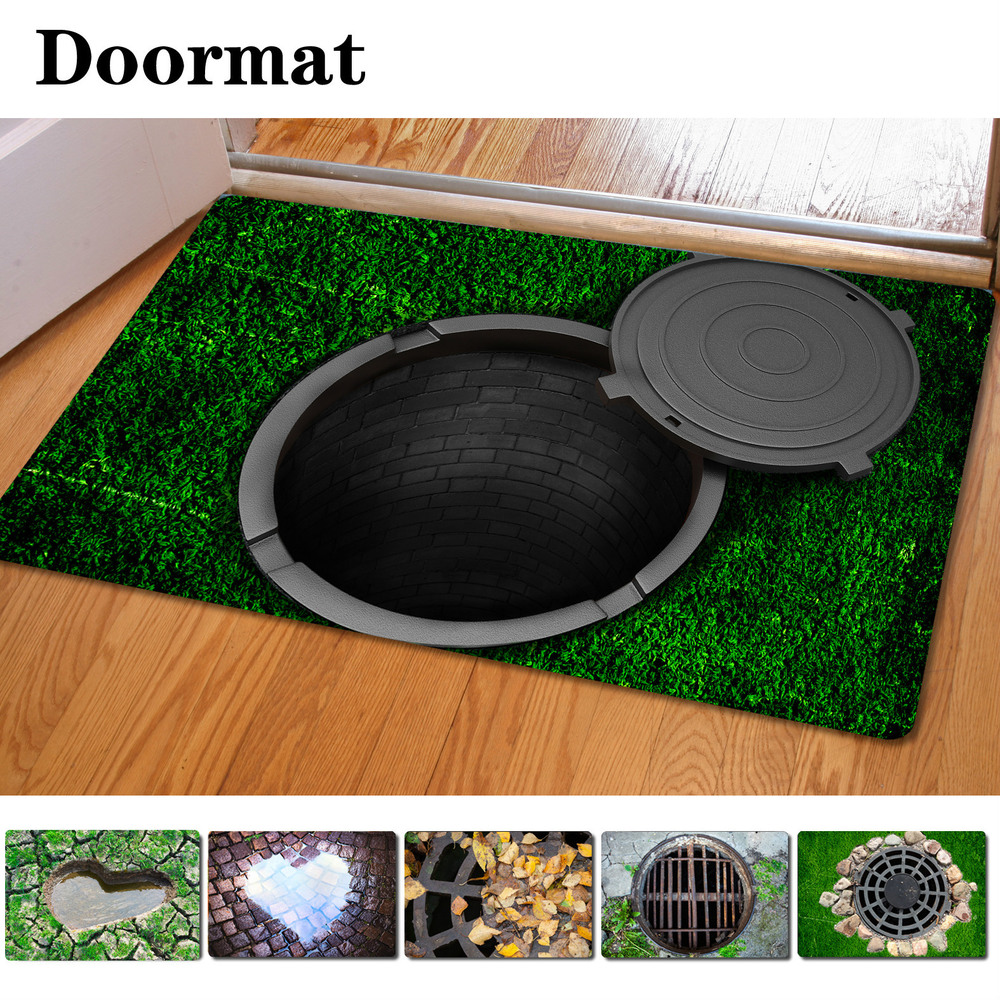 Funny bathroom rugs - Fashion 3d Trap Printed Carpet For Living Room Bedroom Floor Mats Kitchen Rugs 40