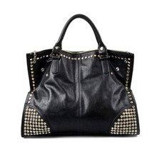 2016 New Hot Casual Women PU Leather Handbags Fashion Shining Rivet Fake Diamond nk Ladies Shoulder Bags Large Tote Bags