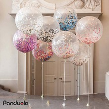 Air Balloons Rose Gold Confetti Balloons babyshower girl Latex Balloon Wedding Decoration happy birthday party Helium ballon