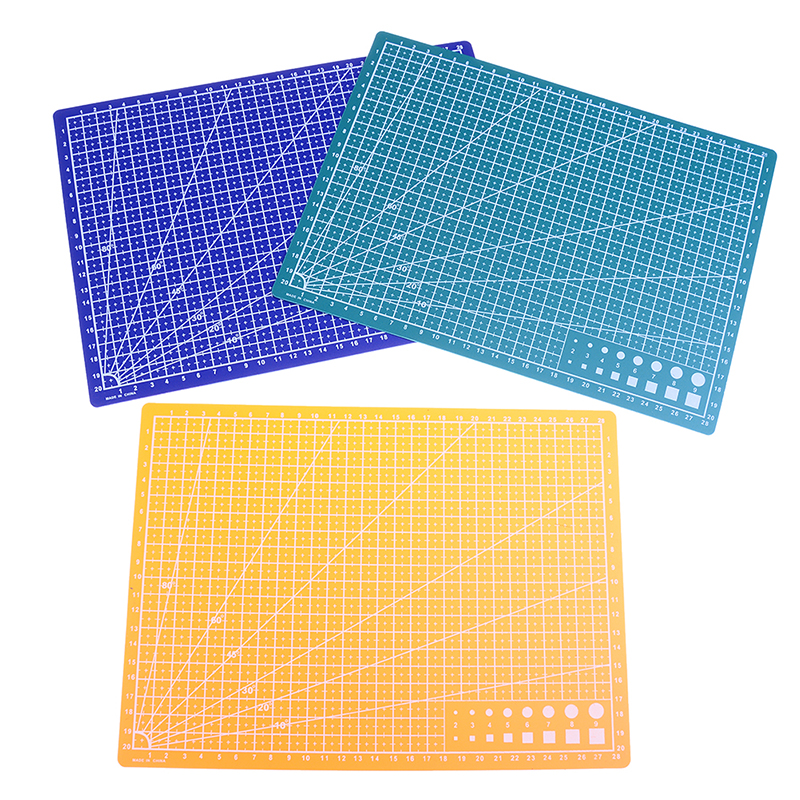 Efficient A4 Grid Lines Cutting Mat Plastic Cutting Pad Craft Card Fabric Leather Paper Board Handmade Diy Paper Card Cutting Mat Plate Cutting Mats Office & School Supplies