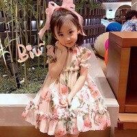 Fairy Dress Dor Girls Super Soft Sang Chan Silk High Quality High Workmanship Baby Girls Dress