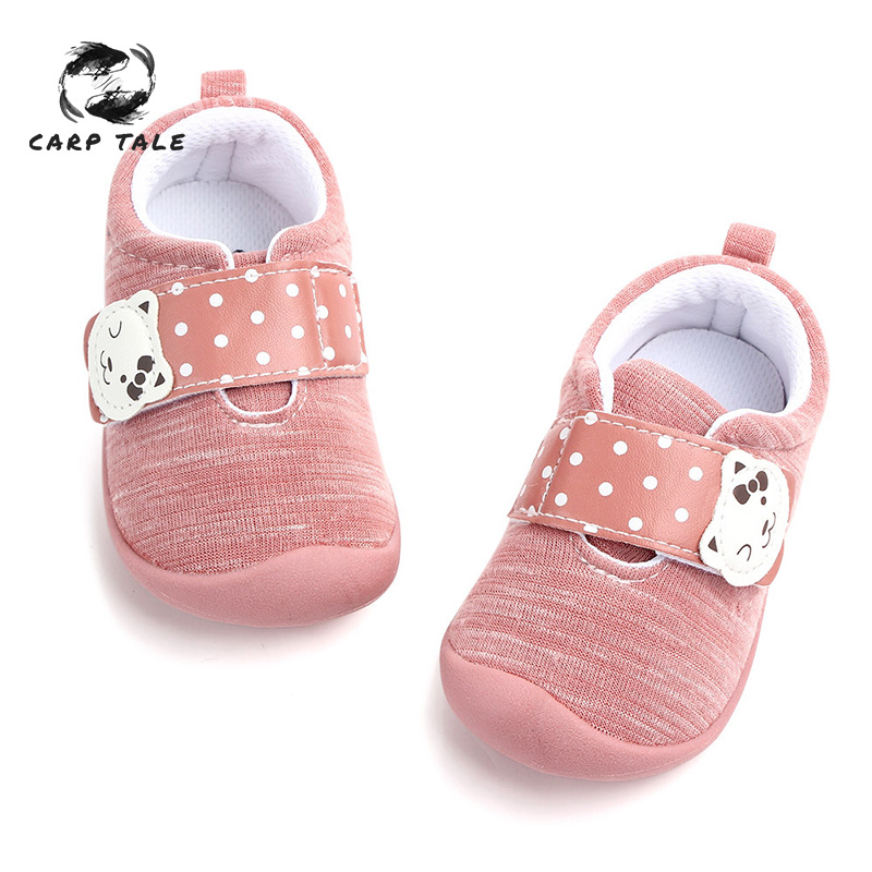 Toddler newborn baby boy soft bottom cute baby shoes slippers first walker non slip sneakers baby shoes 2019 toddler moccasins in First Walkers from Mother Kids