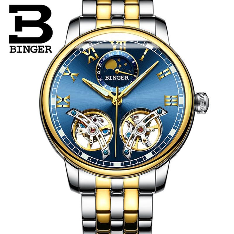Sapphire Kristall Automatische Mechanische Skeleton herren Uhren Luxus Marke Tourbillon Uhr Wasserdicht relogio masculino uhr-in Mechanische Uhren aus Uhren bei  Gruppe 1