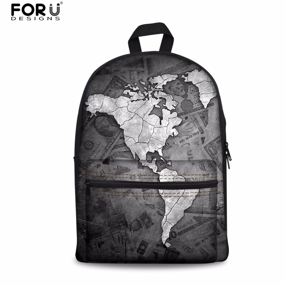 Forudesigns world map printed travel men backpack kids daily forudesigns world map printed travel men backpack kids daily rucksack mens mochila school backpack for teenage boys student bag in backpacks from luggage gumiabroncs Image collections