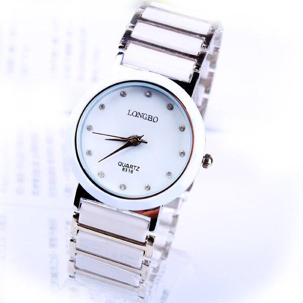 Modemerk Longbo Waterbestendig Mannen Wit Keramiek Quartz Horloge - Herenhorloges - Foto 1