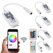 Sihirli ev DC5V 12V 24V kablosuz WiFi Bluetooth denetleyicisi, RGB/RGBW IR RF LED kontrol 5050 WS2811 WS2812B piksel LED şerit