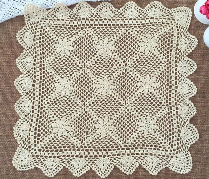Vintage Cotton Crochet Tablecloth Table Cloth Towel Mantel Square Lace  Tablecloth Covers Nappe For Christmas Wedding Decoration In Tablecloths  From Home ...
