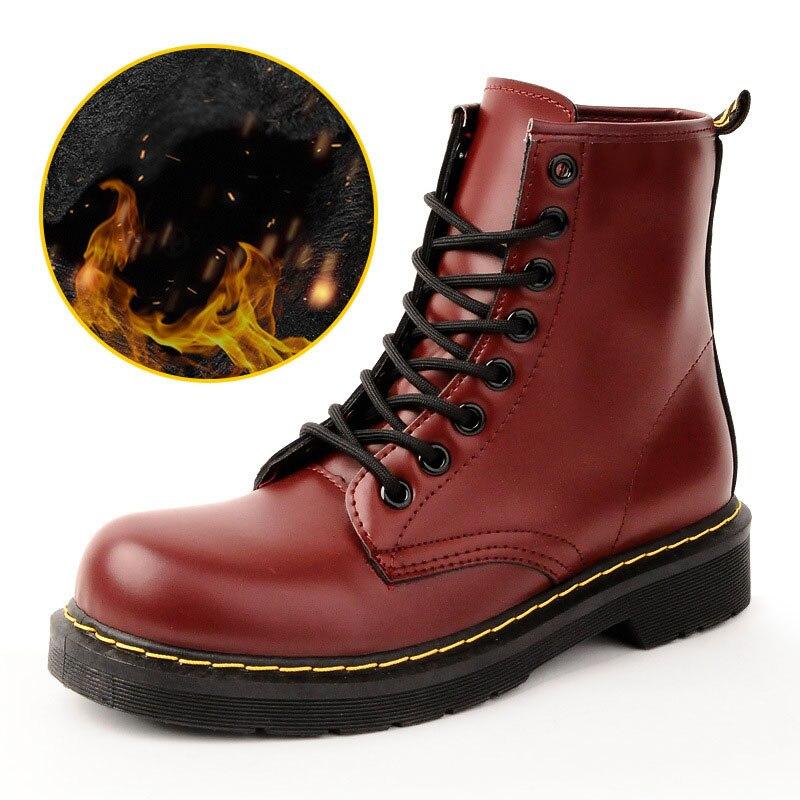 Mode rouge Cheville Noir Black Femmes Bottes L'hiver Belle fur Pour De Femme Red Chaussures Chaud fur cuF1J5l3TK
